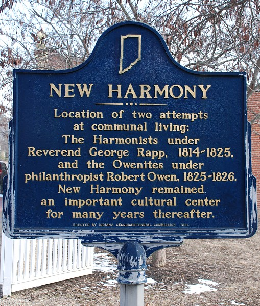 Historical Marker in Red Bud Park