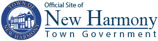 Logo for Official Site of New Harmony Town Government