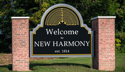 New Harmony Signage